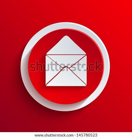red circle icon. - stock photo