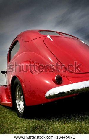 Red Classic Car - stock photo