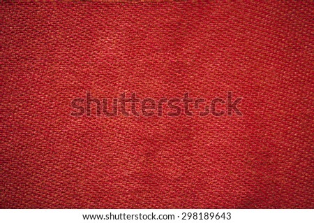 Red clothes fabric texture background. - stock photo