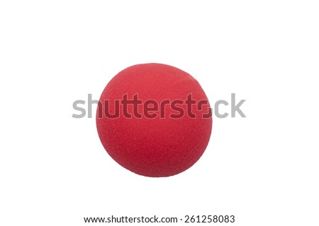 red clown nose isolated (place for photomontage) - stock photo