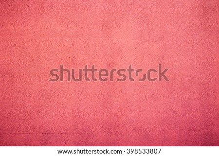 Red concrete wall - stock photo