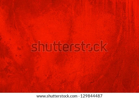Red concrete wall - abstract background - stock photo