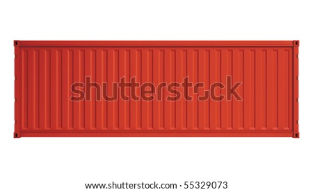 Red container - stock photo
