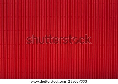 Red corrugated cardboard carton in a  colorful texture background series. - stock photo
