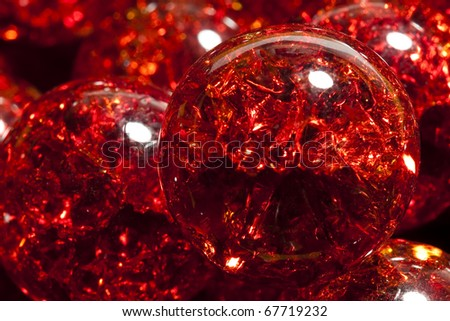 Red Crackle Marble - stock photo