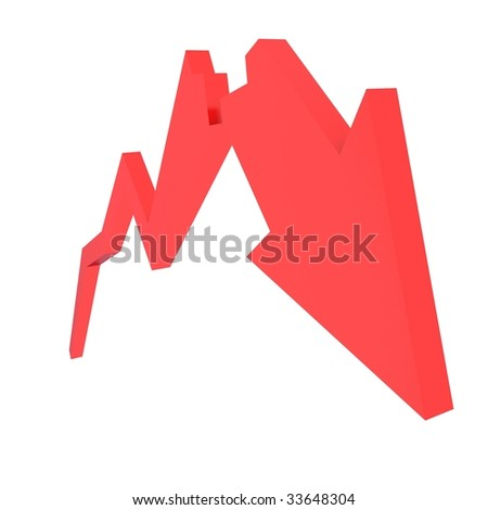 red crash diagram - stock photo