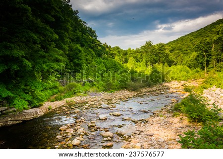 Red Creek, in the rural Potomac Highlands of West Virginia. - stock photo