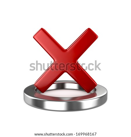 Red Cross Mark, sign. - stock photo