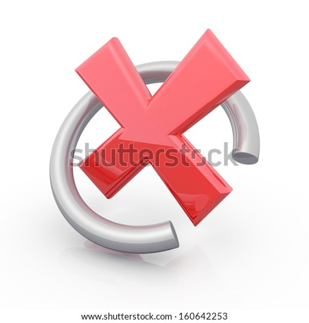 red cross symbol - stock photo