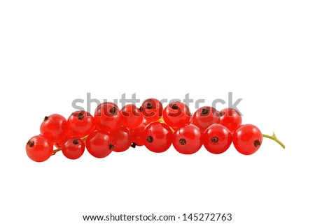 red currant on a white background - stock photo