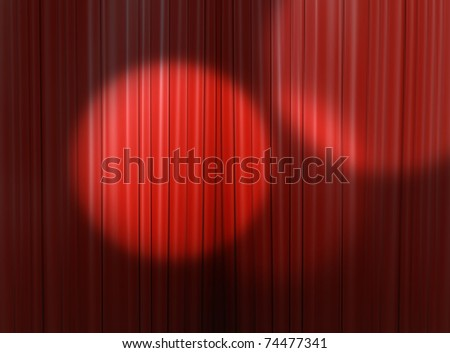 Red curtain of a classical theater - stock photo