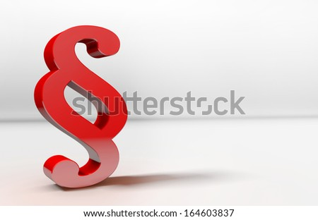red 3d paragraph - stock photo