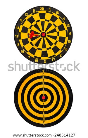 red  dart go to target  - stock photo