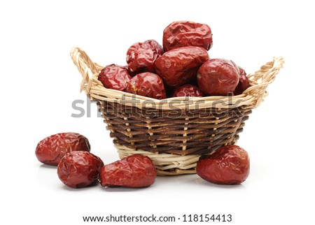 red date on white background - stock photo