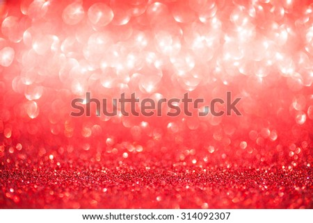 Red defocused abstract lights background. Red bokeh background - stock photo