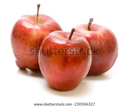 Red Delicious apple isolated on white background - stock photo