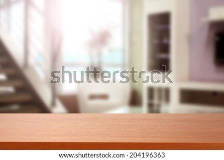red desk and window space  - stock photo