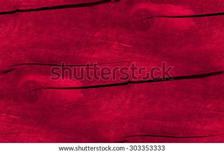 red destroyed wood background, seamless texture - stock photo