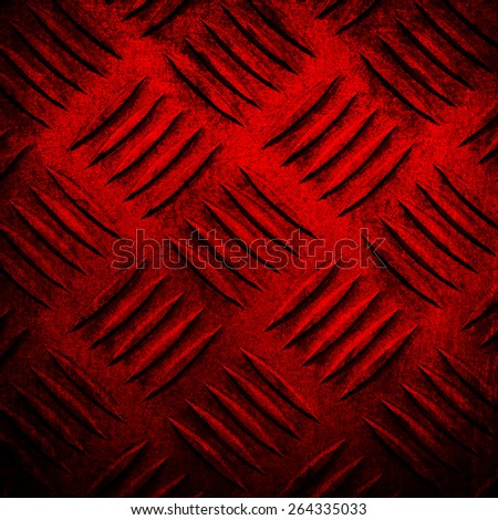 red diamond plate background - stock photo
