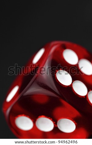 Red dice background - stock photo