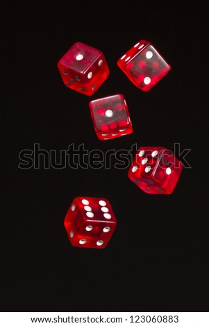 red dices - stock photo