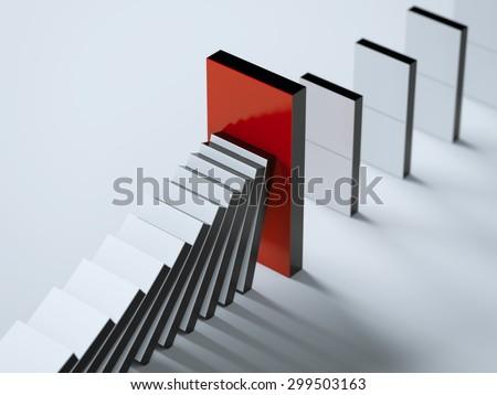 Red domino guard - stock photo