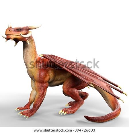 red dragon seat - stock photo