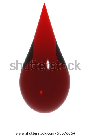 Red drop - stock photo
