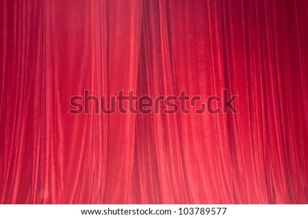 Red drop-curtain - stock photo