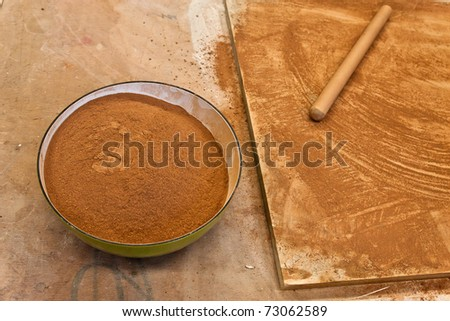 red earth pulverized - stock photo