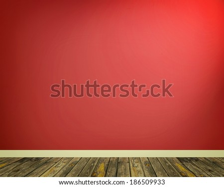 Red Empty Room Background  - stock photo