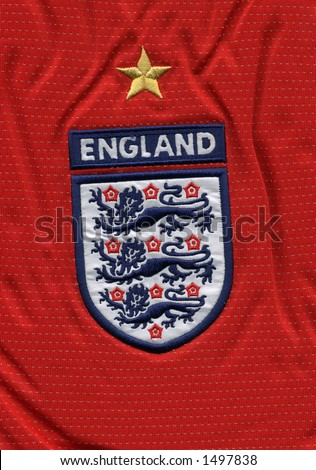 red english football top - stock photo