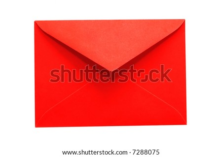 red envelope isolated on white - stock photo