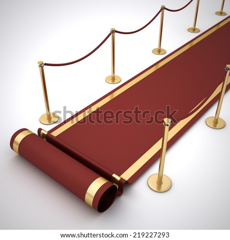 red event carpet - stock photo