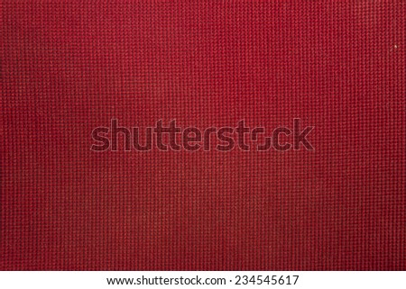 Red fabric texture can be used as background - stock photo