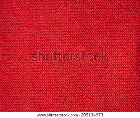 red fabric texture for background - stock photo