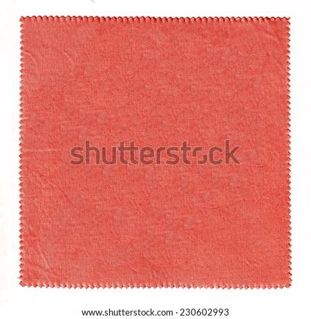 Red Fabric Texture / handkerchief full screen - stock photo