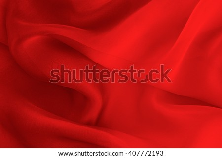 red fabric with large folds abstract  background - stock photo