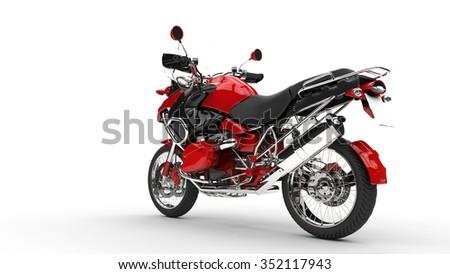 Red Fast Bike - stock photo