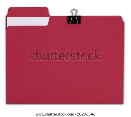 Red File folder with Path - stock photo