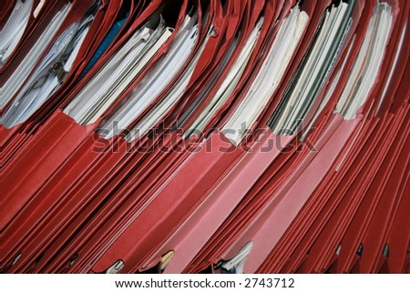 Red Files - stock photo