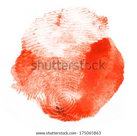 red fingerprint. macro - stock photo