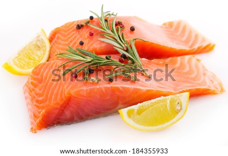 red fish isolated on white background - stock photo
