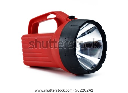 Red Flash Light - stock photo