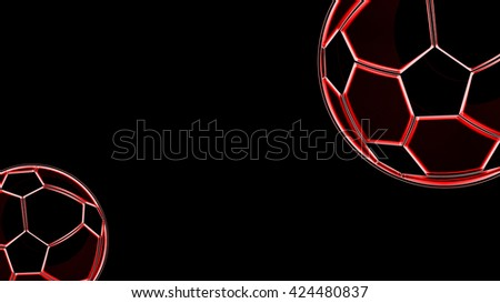 Red Football Background, Wallpaper - stock photo