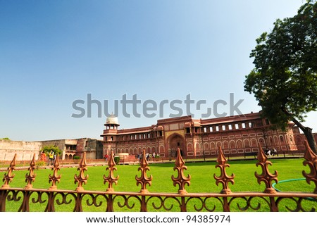 Red fort in india - stock photo