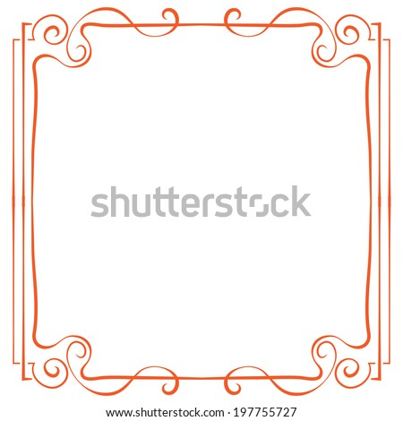 red frame. Element for design in retro style - stock photo