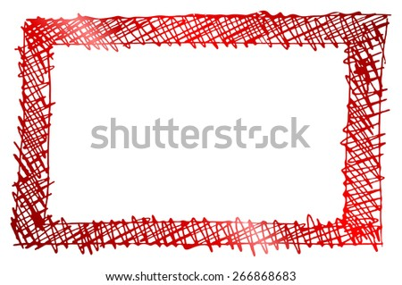red frame template silhoutte - stock photo