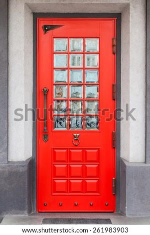 Red Front Door - stock photo