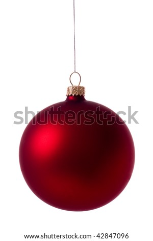 red glass ball - stock photo